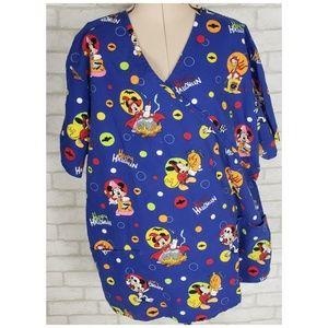 Disneys Mickey Mouse Halloween Scrub Top Size L